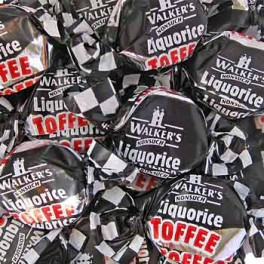 WALKERS LIQUORICE TOFFEE 175g.